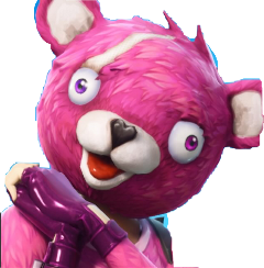 bear fortnite skin pink white freetoedit