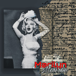 freetoedit marilynmonroe edit art red srcheadintheclouds headintheclouds