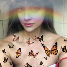 freetoedit sky butterflys clouds imaginationart beautyofnature
