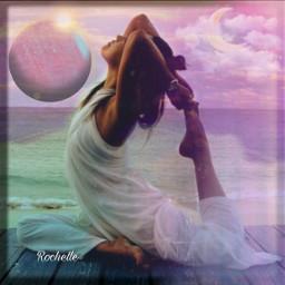 freetoedit remix picsart woman yoga