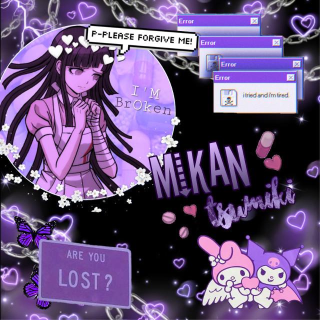 #danganronpa #mikantsumiki #mikan #despair #purple #nurse  #freetoedit