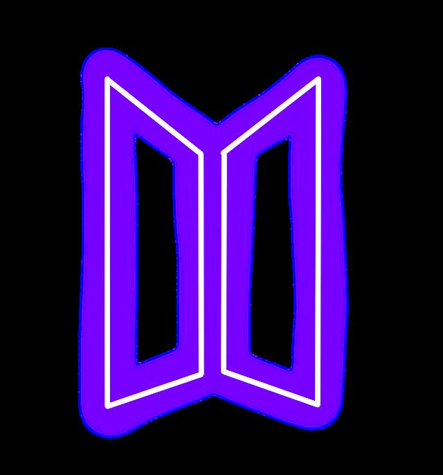 #Bts #BtsLogo #Kpop #KpopLogo #Neon #Purple
