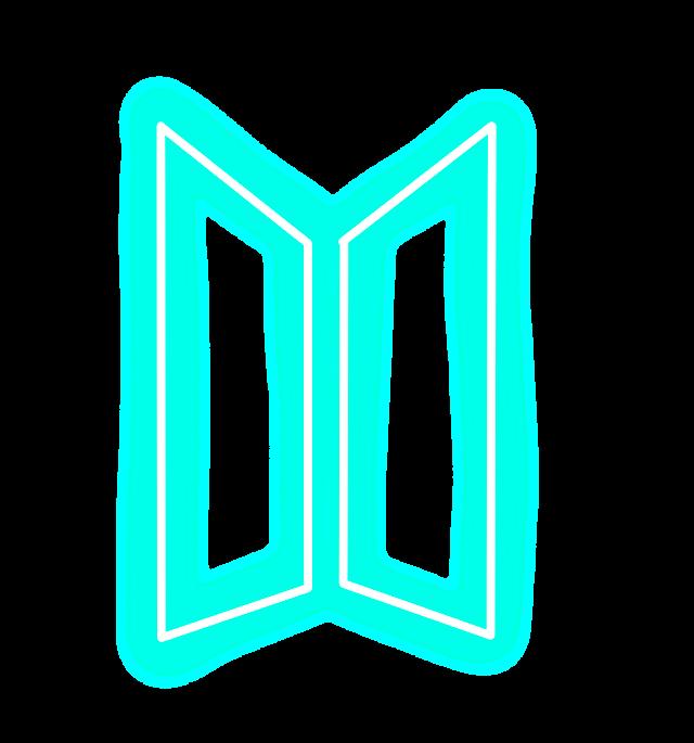 #Bts #BtsLogo #Kpop #KpopLogo #Neon #Blue