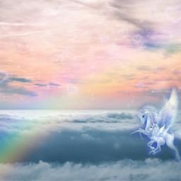edit background wallpaper unicorn pegusus freetoedit