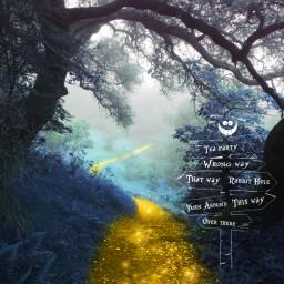 freetoedit fantasy fairytale aliceinwonderland yellowbrickroad