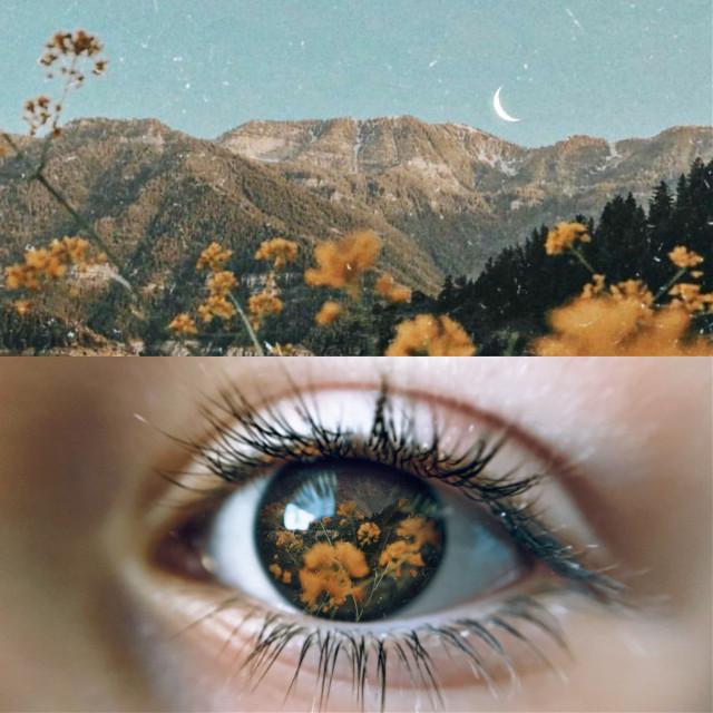 Flower-lit✨🧡     #edit #art #eye #doubleexposure #flower #yellow #collage #freetoedit