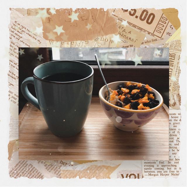 #freetoedit #createfromhome #cozy #coffee #healthy #breakfast #paper #lofi #replay #love #newspaper #food #cup