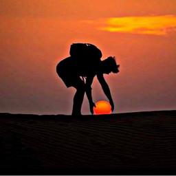 desertsafari beautifull sunset