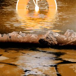 freetoedit clock water backgroundsforyou backgrounds