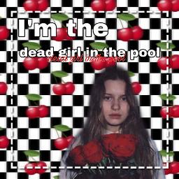 freetoedit girlinred deadgirlinthepool