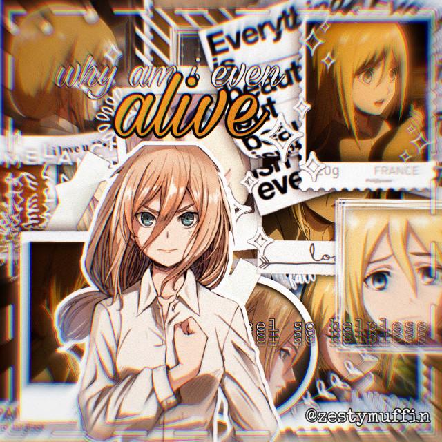 for @tsun-dokuu. sorry it took so long  #historia #krista #historiareiss #kristalenz #reisshistoria #lenzkrista #aot #snk #attackontitan #shinjekinokyojin #anime #animegirl #animegirledit #freetoedit