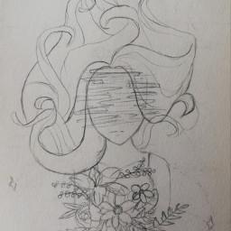 freetoedit remixit girl thinking sketch