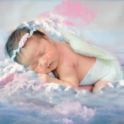 freetoedit nubes baby littleangel angel srcheadintheclouds headintheclouds