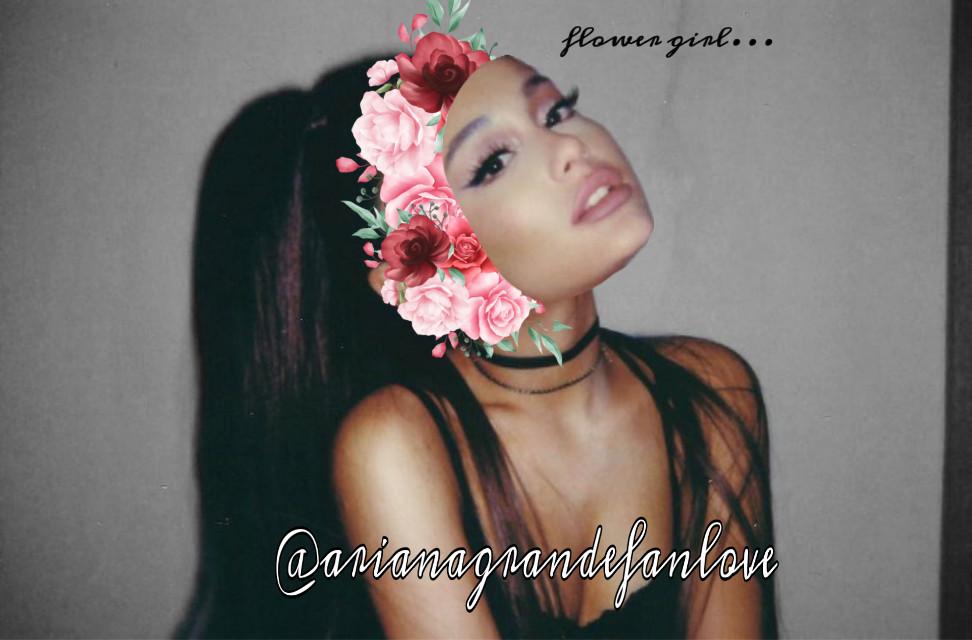 Flowergirl🥰 #arianagrandefanlovecrew #arianagrande #iloveyou #flowers  #freetoedit