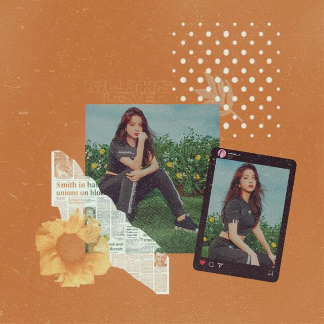 #blackpink #jisoo #magazine #fall #kpop #girlgroup #korean #aesthetic #edit #collage #flowers #spring #instagram #tags #socialmedia #killthislove  #freetoedit