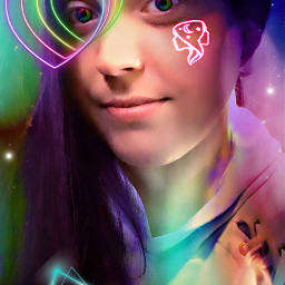 selfieart neons gemini iseeyou goodandevil freetoedit