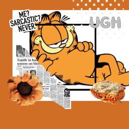 garfield mondays lasagna rcorangeframe orangeframe replay freetoedit