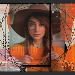 freetoedit orange lines circles beautiful rcorangeframe orangeframe replay