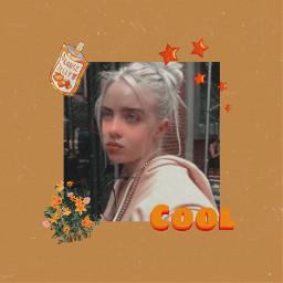 freetoedit billieeilish orange aesthetic vintage