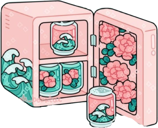 #cute #pink #soda #fridge #softgirl #flowers #aesthetic #freetoedit