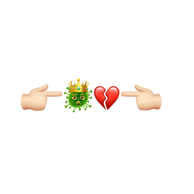 #combo #emoji #iPhone #cuore #coronavirus