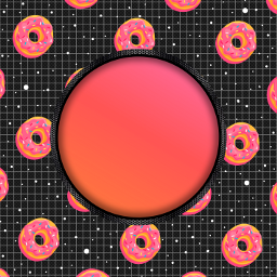 freetoedit frame donuts space ftestickers