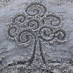 freetoedit art sand tree swirl