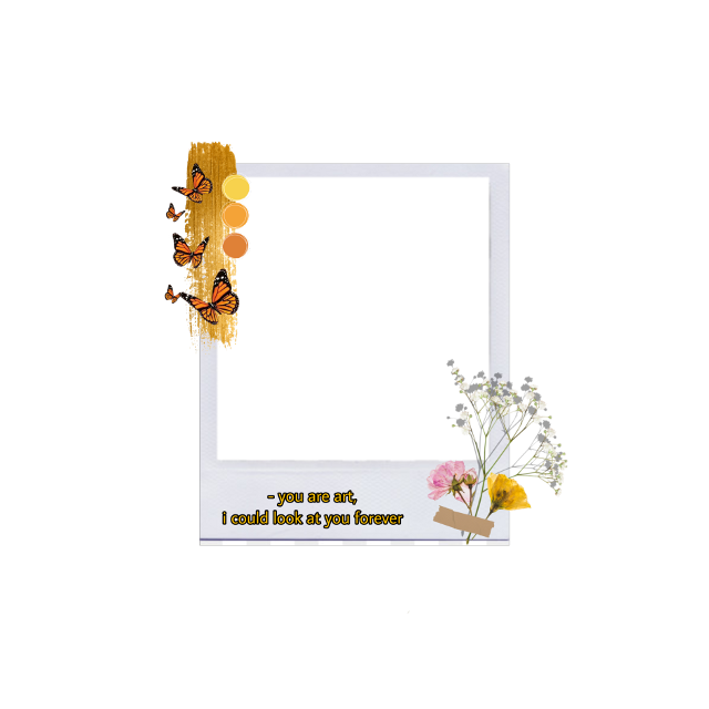 #freetoedit #polaroid #aesthetic #polaroidframe #flowers #floral #gold #butterflies