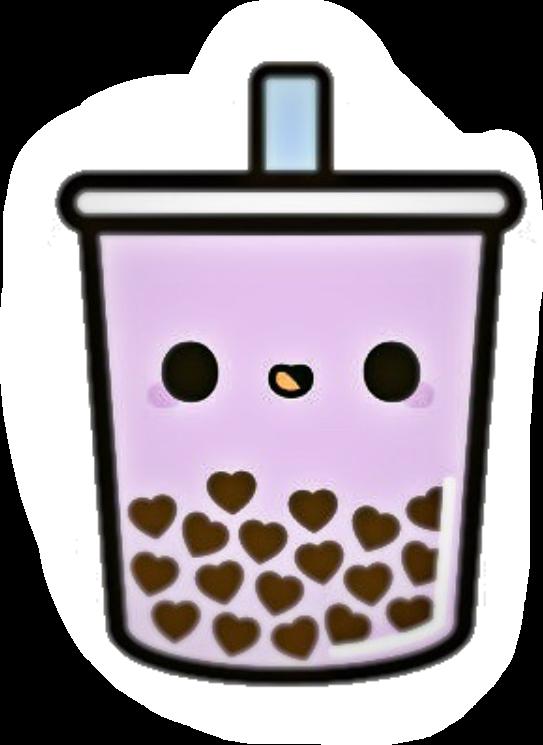 Purple cute boba tea <3 #bobatea #freetoedit