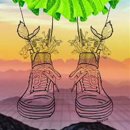 freetoedit lineart sunset dress shoes irclineart