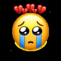 emoji sad cry freetoedit