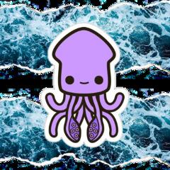 freetoedit ocean squid squiddy water
