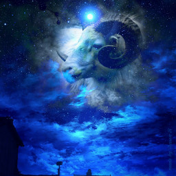 fantasyart aries night galaxy mycreation freetoedit