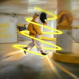 freetoedit spiral neon yellow moving