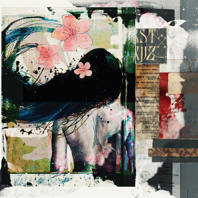#freetoedit #spring #sakura #tatoo #tatoogirl #papers #art #collage #longhair