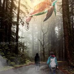 freetoedit giantanimal hutan fotografer alam