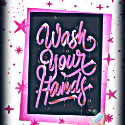 freetoedit washyourhands stars bubbles soap