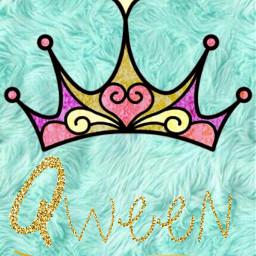 freetoedit qween crown gold glitter