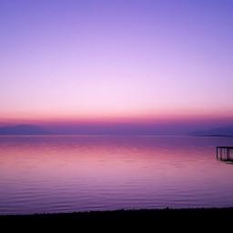 purple pink sky lake izniklake
