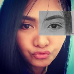 freetoedit selfie sketch drawing eye