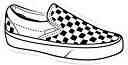 vans checkers checkerd black white freetoedit