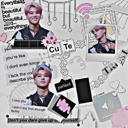 wooyoung pink white aesthetic collage freetoedit fccreatefromhome createfromhome stayinspired