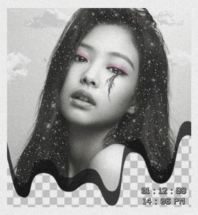 #jennie #blackpink #model #aesthetic #edits #girls #asian #blackandwhite #stars #clouds #challenge #collage   #freetoedit
