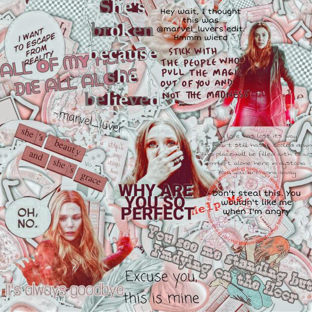 🧸Welcome to build a edit🧸    Wʜᴏ ᴅᴏ ʏᴏᴜ ᴡᴀɴᴛ ɪᴛ ᴛᴏ ʙᴇ... ⓌⒶⓃⒹⒶ ⓄⒻ ⒸⓄⓊⓇⓈⒺ  Wʜᴀᴛ ᴄᴏʟᴏʀ ᴅᴏ ʏᴏᴜ ᴡᴀɴᴛ... ⓅⒾⓃⓀ  Wʜᴀᴛ ɪs ɪᴛ... Ⓜ︎ⒶⓇⓋⒺⓁ ⒹⓊⒽ  Wᴏᴡ ᴛʜɪs ɪs ᴛᴀᴋɪɴɢ ғᴏʀᴇᴠᴇʀ... ④⑤ Ⓜ︎ⒾⓃ  Iᴛs ᴅᴏɴᴇ!! Wᴏᴡ ɪᴛ ʟᴏᴏᴋs ɪɴᴄʀᴇᴅɪʙʟᴇ. Yᴏᴜ ɴᴏᴡ ʜᴀᴠᴇ ᴛᴏ ɢɪᴠᴇ ɪᴛ ᴀ ᴘᴇʀsᴏɴᴀʟɪᴛʏ.  Nᴀᴍᴇ ⒶⓋⒺⓇⓎ ⒽⓄⓁⓁⒶⓃⒹ  Mᴏᴏᴅ Ⓘ ⓃⒺⒺⒹ ⓉⓄ ⓅⒺⒺ ⒶⒼⒶⒾⓃ 😂  Dᴀᴛᴇ Ⓜ︎ⒶⓇⒸⒽ ②①, ②⓪②⓪  Yᴏᴜʀ ᴇᴅɪᴛ ɪs ɴᴏᴡ ᴅᴏɴᴇ ɪ ʜᴏᴘᴇ ʏᴏᴜ ʟᴏᴠᴇ ɪᴛ!!  I ʜᴏᴘᴇ ʏᴏᴜ ᴄᴏᴍᴇ ʙᴀᴄᴋ ᴛᴏ ʙᴜɪʟᴅ ᴀ ᴇᴅɪᴛ sᴏᴏɴ!! 🧸🧸🧸🧸🧸🧸🧸🧸🧸🧸🧸🧸🧸🧸🧸🧸🧸  Another Wanda edit.  Yes I'm am obsess with her. I love her sooo much. Im not too sure about hope this turned out. I used mostly text. Do you guys like it.   My Toms: @hollander_forever_15 @gryffindorperson @_tom_holland_lover  My tessas: @listmaster06  ✨My specials✨ @hollander_forever_15 @loki_bucky_13 @allydryden (Thanks for being so very kind)  To join my tags put 🕷 to be my Toms  And 🐕🦺 to be my tessas Put ☹️ to leave  🥔hashbrowns🥔 #wandamaximoff #wandavision #Wanda #scarletwitch #marvel #elizabetholsen #lizzieolsen #stan #queen #beauty #powerful #strongestavenger #broken  #freetoedit