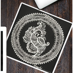table home mandala drawing