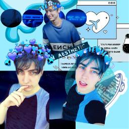 blueaesthetic blue blueyes bluehearts colbybrock freetoedit