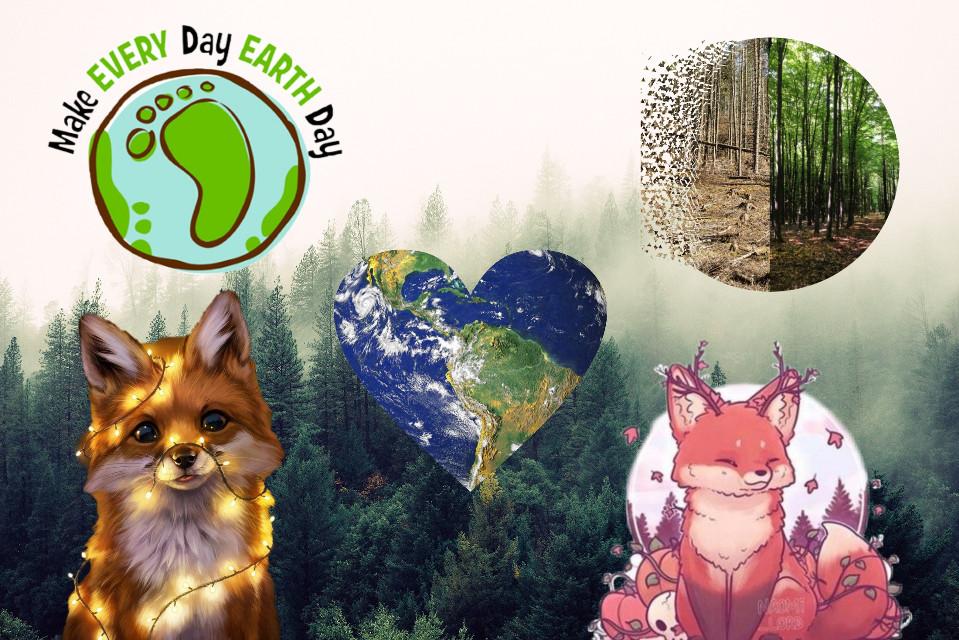 #freetoedit czy tak jak ja kochacie planetę? 🌏🌎🌍 #nature #przyroda #natura #inspiracje #fox #lis #planet #planeta #ziemia