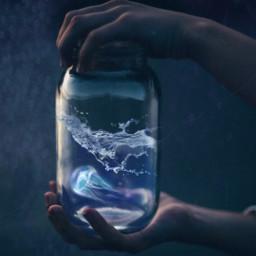 freetoedit jellyfish jelly jar magic srcsplash splash
