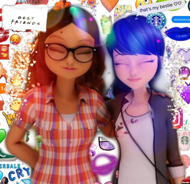 #freetoedit #marinette #alya #alyacesaire #miraculous #ladybug #renarouge #catnoir