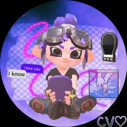 icon octolinggirl purple veemo cute freetoedit